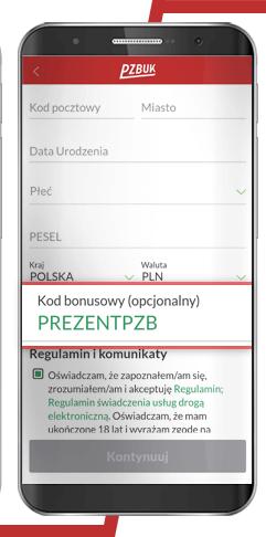 kod promocyjny przy rejestracji PZBuk